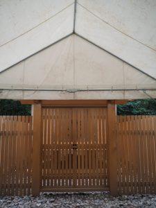 仮殿にて参拝、御塩殿神社(皇大神宮 所管社)
