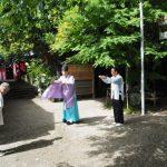 伊勢上座蛭子社の月次祭(伊勢市八日市場町)