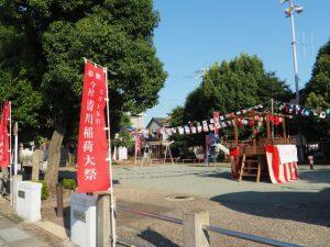 今社 清川稲荷大祭の踊り会場(伊勢市宮町)