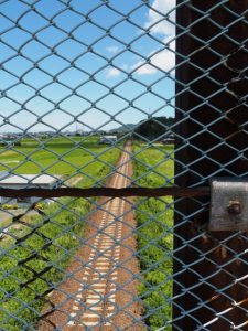 国道23号参宮線跨線橋から望むJR参宮線