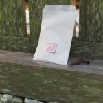 [八朔]印が押された袋、堅田神社(皇大神宮 摂社)