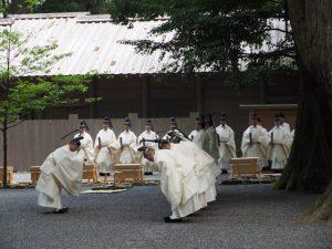 風日祈祭、忌火屋殿前庭(内宮)