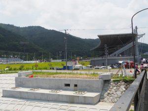 インターハイまでには完成していなかった新しい御側橋(五十鈴川)