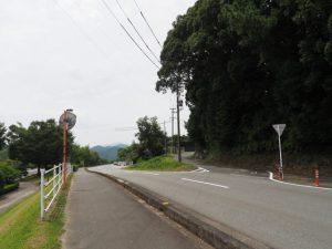 河津神社跡、庚申塔ほかへの分岐(度会町大野木)