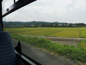 バスより遠望した岩出城跡(玉城町岩出)