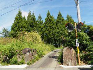 櫲樟尾神社舊蹟への入口(伊勢市楠部町)