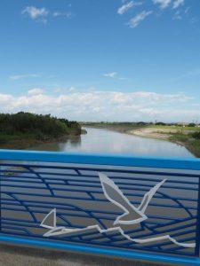 松名瀬橋 側道橋から望む櫛田川の下流方向