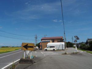 県道705号八木戸交差点付近