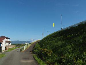 国道23号西豊浜町I.C交差点から外城田川橋(外城田川)へ