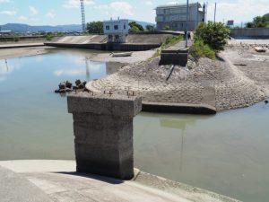 大湊側から眺めた御祓橋跡
