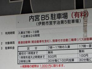 内宮B5駐車場の説明板
