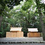 テントが片付けられ仮殿と共に、御塩殿神社(皇大神宮 所管社)