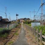 近鉄踏切道宮町第一号とJR参宮線 新古市踏切の間にたどり着く道