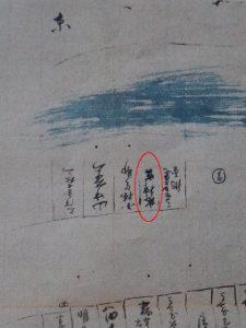 水神宮の位置を示す古絵図(河邊七種神社社務所)