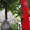 城山稲荷神社から眺める津城の石垣(津市丸之内)