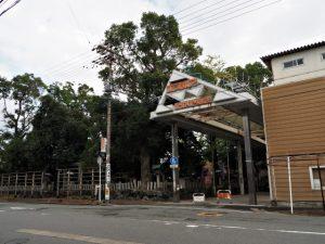 今社付近、伊勢高柳商店街アーケード入口(伊勢市宮町)