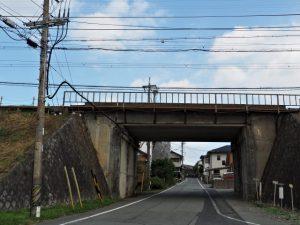 近鉄鳥羽線の高架下(伊勢市古市町)