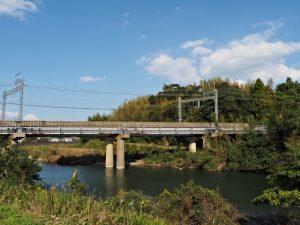 五十鈴川に架かる近鉄鳥羽線の架橋