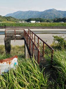 五十鈴橋から五十鈴川の左岸を下流方向への途中