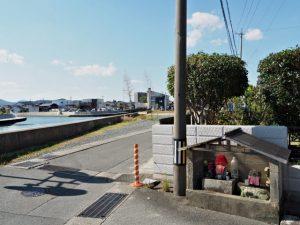 東邦ガス伊勢サービスセンター前(伊勢市船江)から望む河崎方向