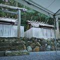 御造替に向けた仮殿御遷座の朝、朝熊神社(皇大神宮 摂社)