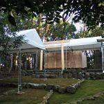上棟祭の朝、宇治山田神社(皇大神宮 摂社)