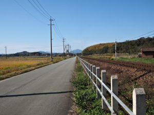 JR参宮線 前川踏切から外城田駅方向へ