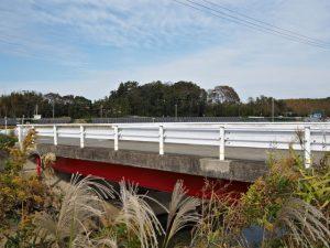 外城田川に架かる橋、御船神社(皇大神宮 摂社)付近