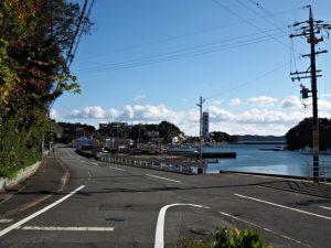 安楽島漁港へ(鳥羽市安楽島町)