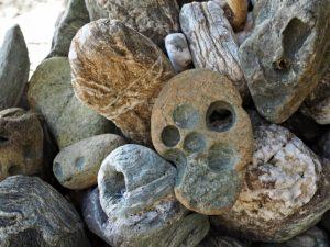 伊射波神社の海に面した鳥居付近にて(鳥羽市安楽島町)