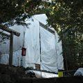 御造替が進み鳥居が撤去されていた朝熊神社(皇大神宮 摂社)