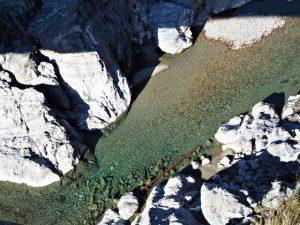 赤桶橋から見下ろした櫛田川