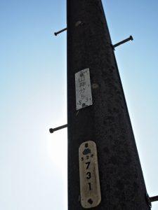 NTTの識別標「山神分5 左3」