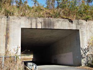 伊勢自動車道と交差する勢和多気42トンネル(度会郡玉城町山神)