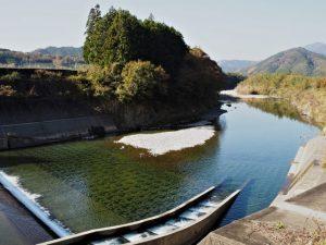 南勢志摩水道用水、櫛田川からの取水口付近(多気郡多気町津留)