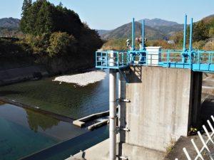 南勢志摩水道用水、櫛田川からの取水口(多気郡多気町津留)