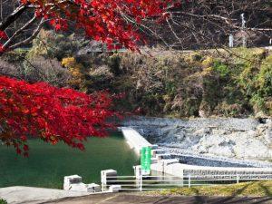 立梅用水の井堰(取水堰)付近(櫛田川)