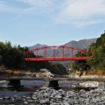 櫛田川の沈下橋(松阪市飯南町有間野)と栃川橋