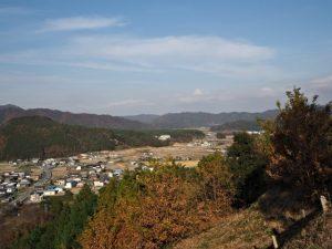 五箇篠山城跡(多気郡多気町朝柄)からの眺望