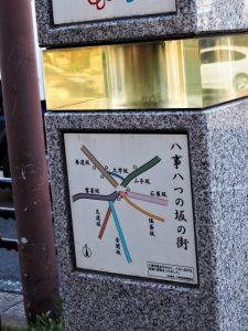 「八事八つの坂の街」の図