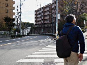 市バス 弥生ケ岡 バス停付近の分岐