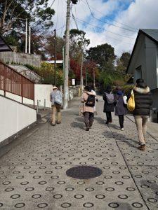 塩竈神社への坂道(名古屋市天白区御幸山)