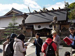 塩竈神社にてツアーのまとめ(名古屋市天白区御幸山)
