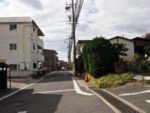 八事東小学校付近から続くかつてのメインストリート(名古屋市天白区元八事・御幸山)