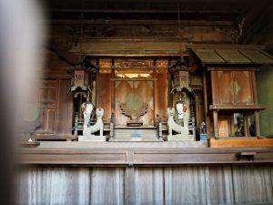 金毘羅堂には神使の狐、寂照寺(伊勢市中之町)