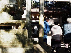 例祭が斎行されていた神田社(伊勢市神久)