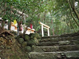 簀屋根が取り外された朝熊神社(皇大神宮 摂社)