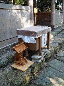 古い神札箱、船江上社(伊勢市船江)