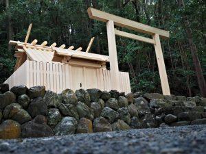 御遷座を待つ朝熊神社(皇大神宮 摂社)