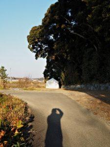 上棟祭の朝、朝熊神社(皇大神宮 摂社)付近